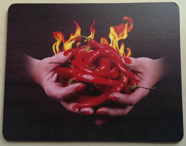 Foodshoots Flaming Hot Chillies - Unique Design Tablemat