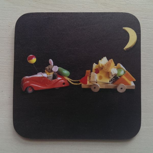 Foodshoots Mouse And Cheese Board - Unique Design Coaster