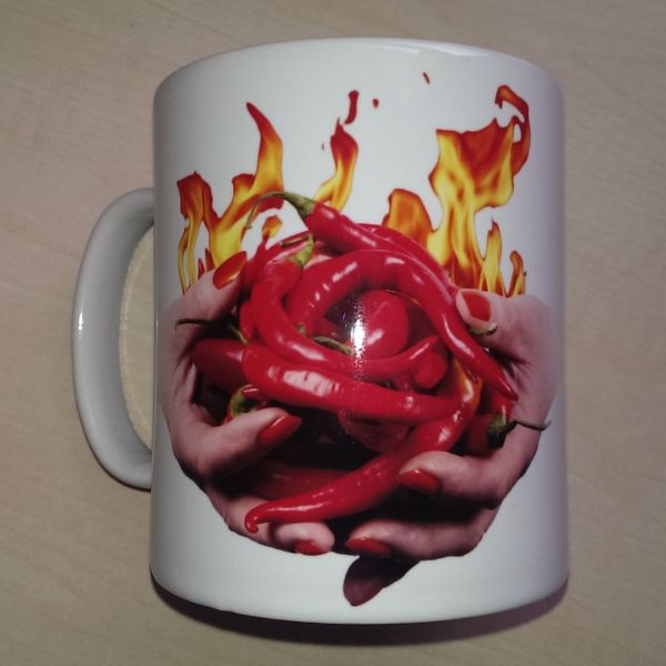 Foodshoots Flaming Hot Chillies - Unique Design Kitchen Mug