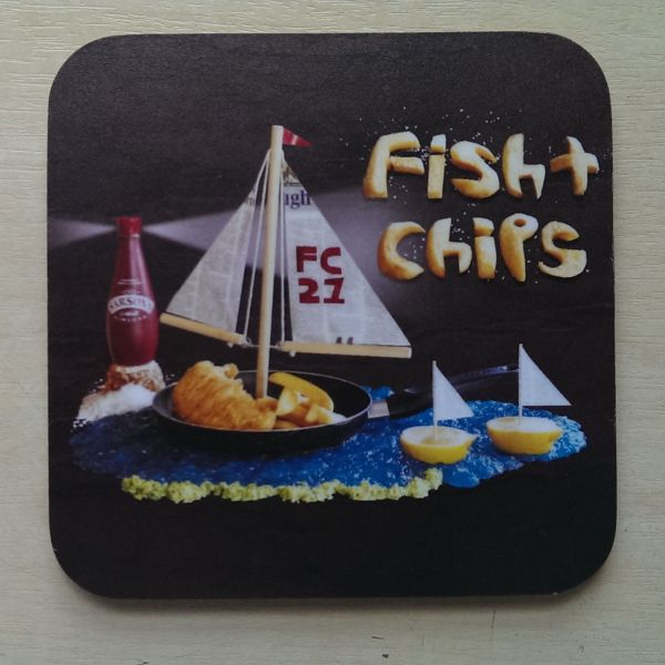 Foodshoots Fish And Chips - Unique Design Coaster