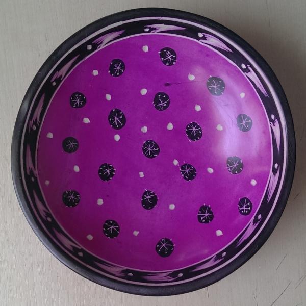 Handmade African Kisii Soapstone 15cm Bowl - Spots