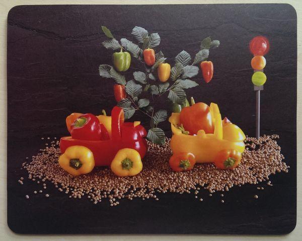 Foodshoots Pepper Train - Unique Design Tablemat