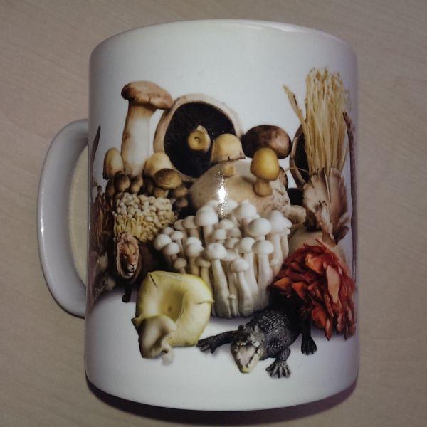 Foodshoots Flaming Wild Mushrooms - Unique Design Kitchen Mug
