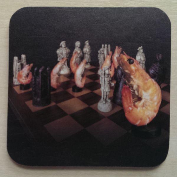 Foodshoots Prawn Chess - Unique Design Coaster